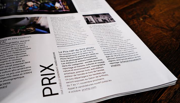 """""""Un nouveau prix est né !"""" : le magazine Photo parle des Prix HiP"""