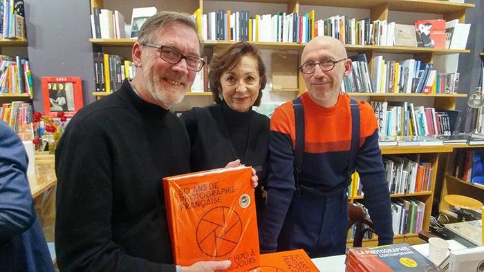de gauche à droite : Marc Pussemier (La Comète), Marianne Théry (Textuel) et Michel Poivert (historien). Photos : © Emmanuel Lek