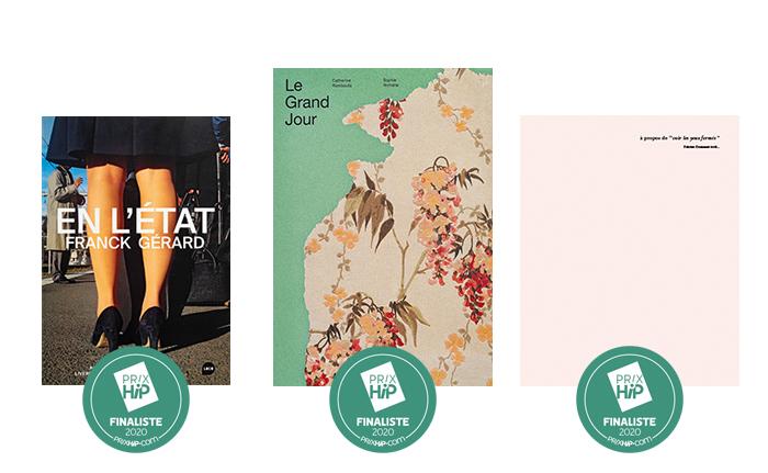 """Les 3 finalistes des Prix HiP 2020 • catégorie """"Premier livre"""""""