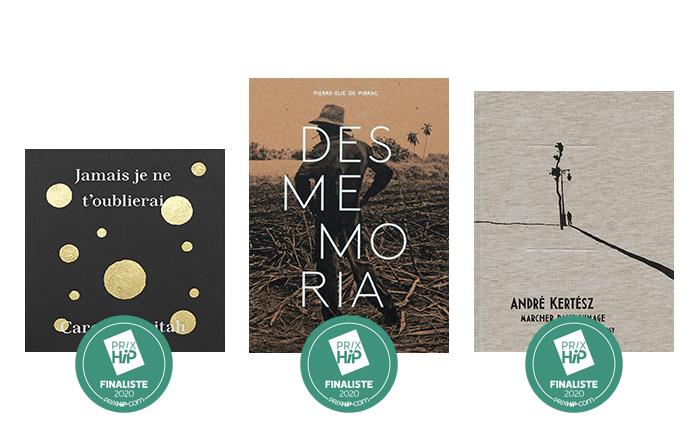 """Les 3 finalistes des Prix HiP 2020 • catégorie """"Livre de l'année"""""""