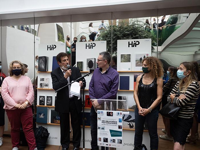 Alain Lévy, maire-adjoint délégué à la jeunesse et la famille, et Fanny Vergnon, maire-adjointe déléguée à l'Architecture, bâtiments, patrimoine et vie des femmes (à gauche)