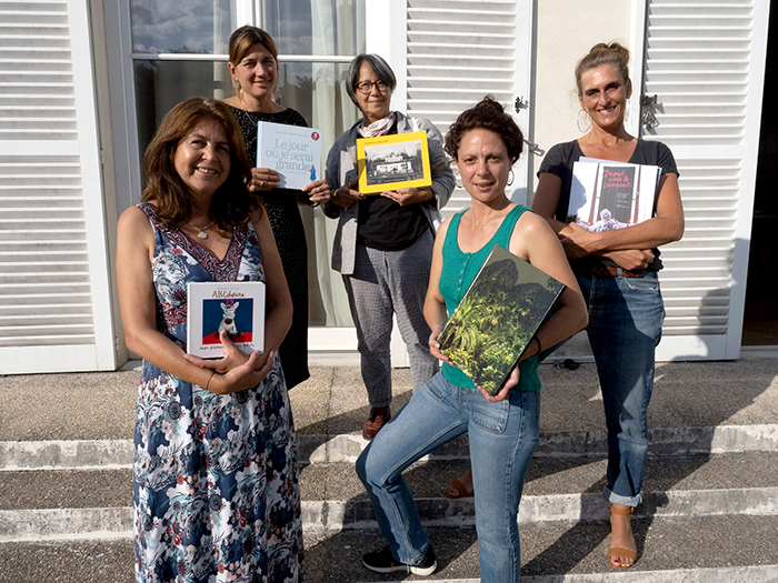 Da gauche à droite : Nathalie Seroux, Marie Liesse, Françoise Chadaillac, Olivia Lavergne et Marie Genel • Photos : © Stéphane Derny