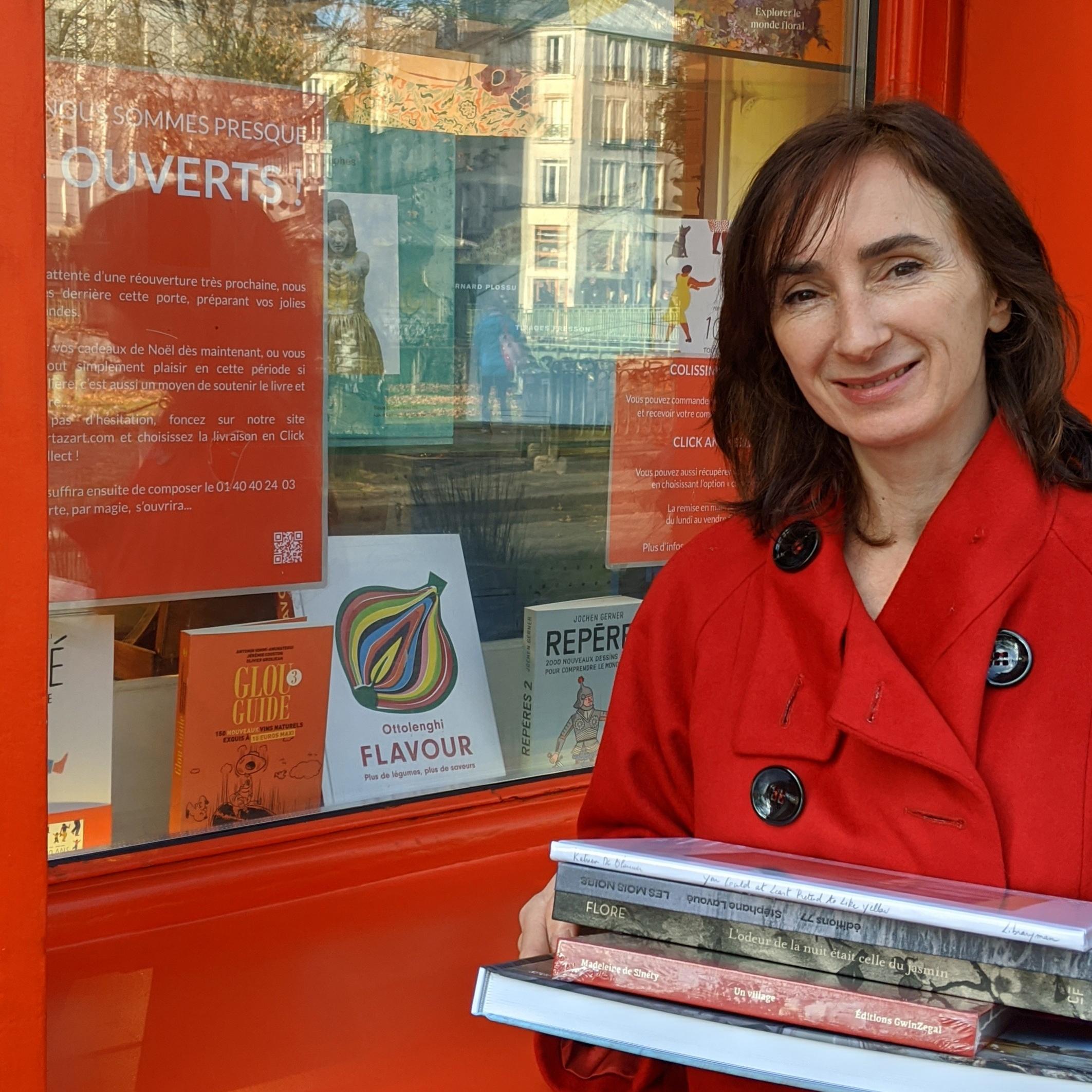 Laetitia, responsable de la librairie Artazart